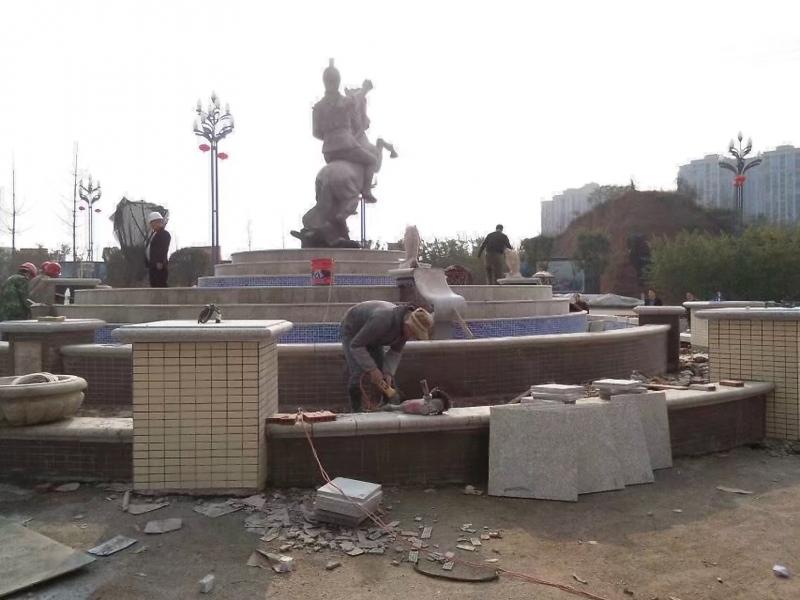 广场文化雕塑施工