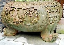 仿古水缸雕塑