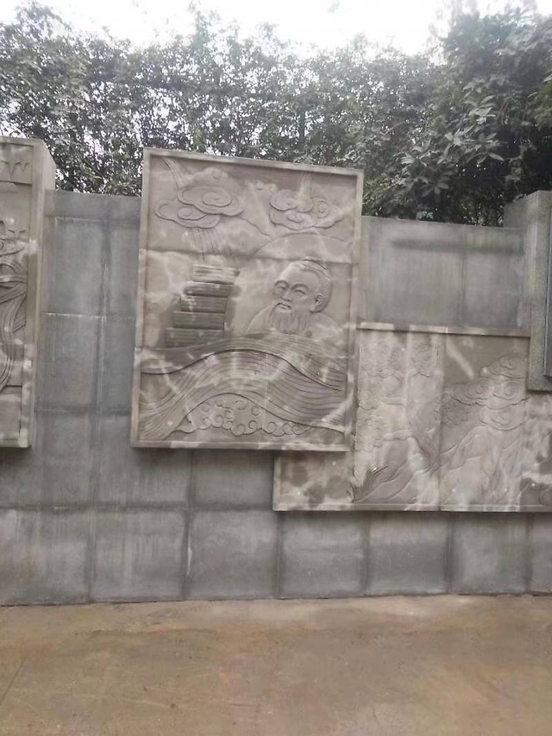 园林画壁雕塑